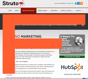 Landing pages, Inbound Marketing