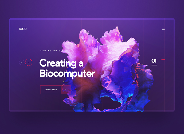 3D animation in web design