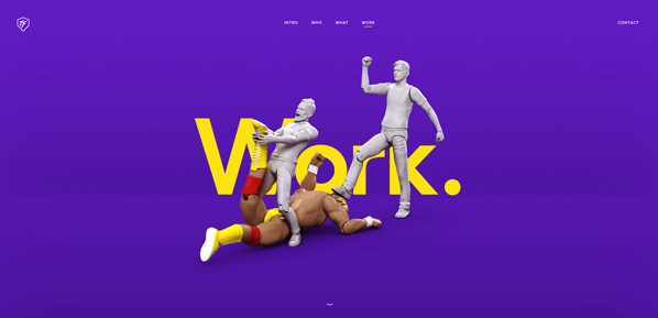 3D interactive animation and elements in web deisgn