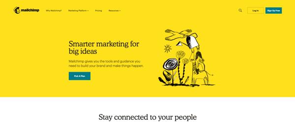 Artistic illustrations are a web design trend in 2020