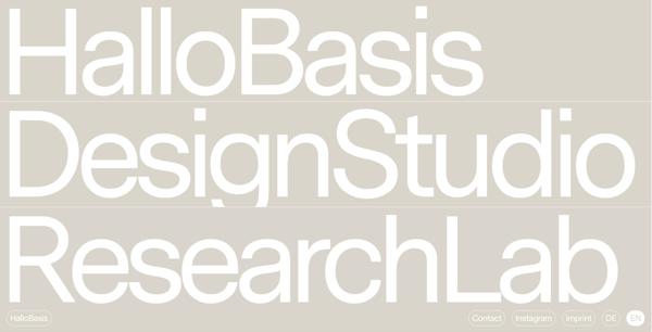 Big typography in web design