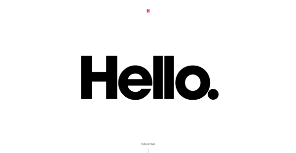 Bold Typography is a web design trend to watch in 2020