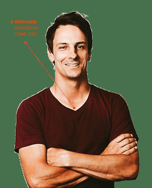 Reinhard - website development and design team lead